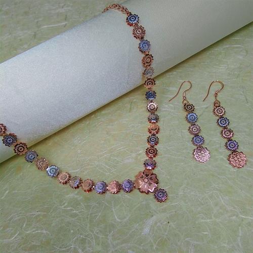 Immitation Jewellery Two-tone Necklace Set