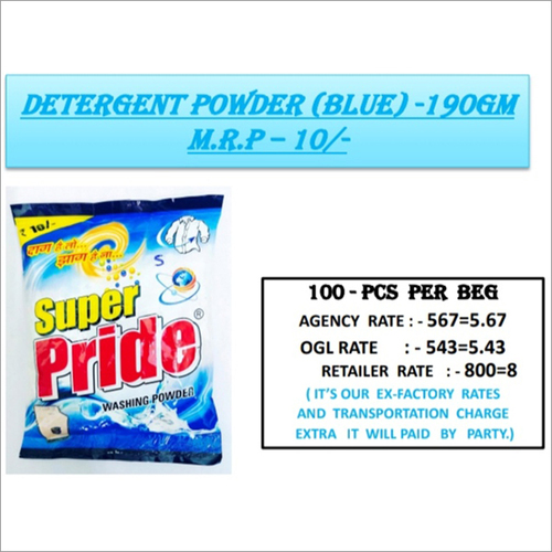190 GM Bluee Detergent Powder