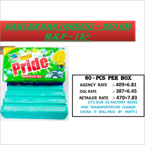 250 GM Green Bartan Bar