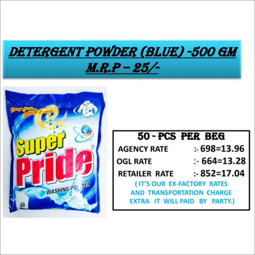 500 GM Bluee Detergent Powder