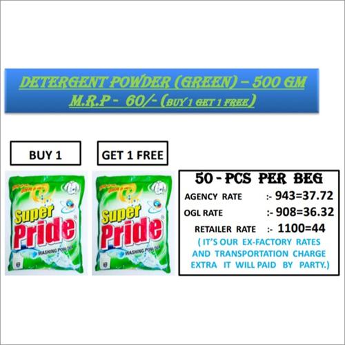 500 GM Green Detergent Powder
