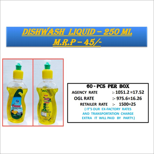 250 Ml Dishwash Liquid