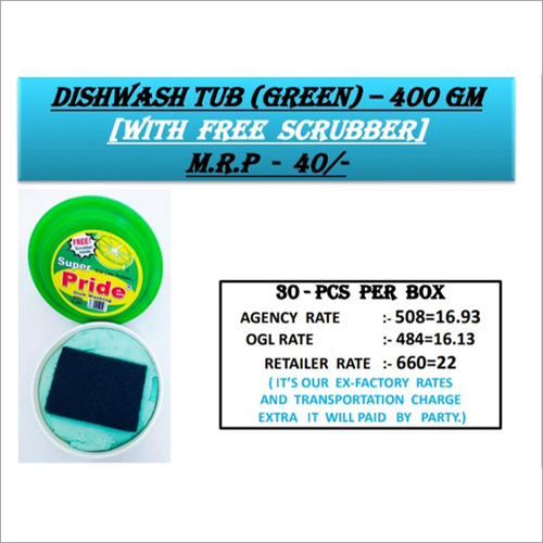 400GM Green Dishwash Tup