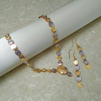 Immitation Jewellery Two-tone Necklace Set