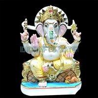 Beautiful Solid Marble Lord Ganesha Idol