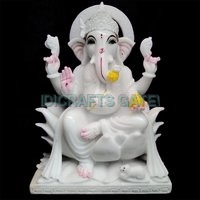 Antique Marble Lord Ganesh Moorti