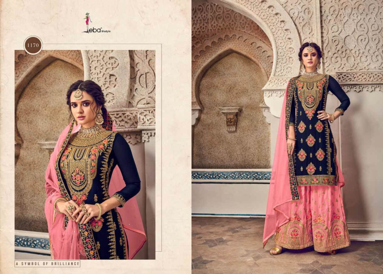 Baluming Georgette with Embroidery Work with Diamond