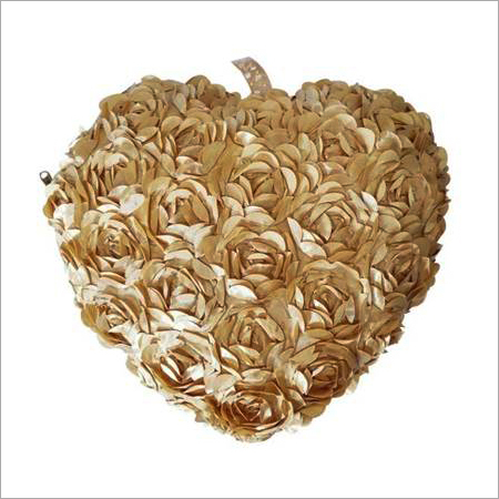Heart Shape Rose Fur Cushion