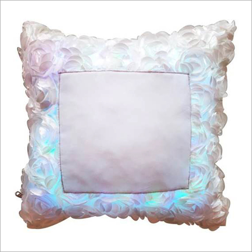Sublimation Rose Fur LED Switch Cushion