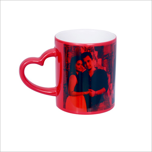 Heart Handle Magic Mug