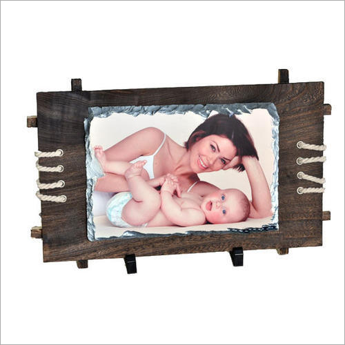 Personalized 5 x 7 Rock Stone Photo Frame