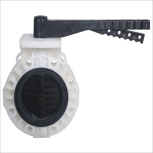 PP Flanged Butterfly Valve