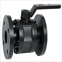 PP Black Flanged Ball Valve