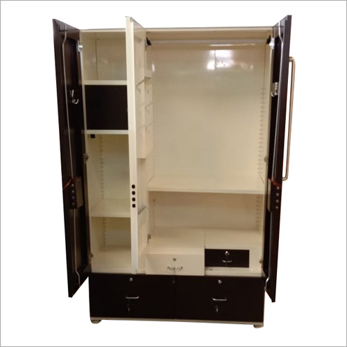 3 Door Steel Almirah with Drawer