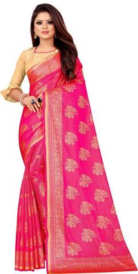 Terry Knighting Jacquard Saree
