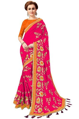 Tassel Work Saree