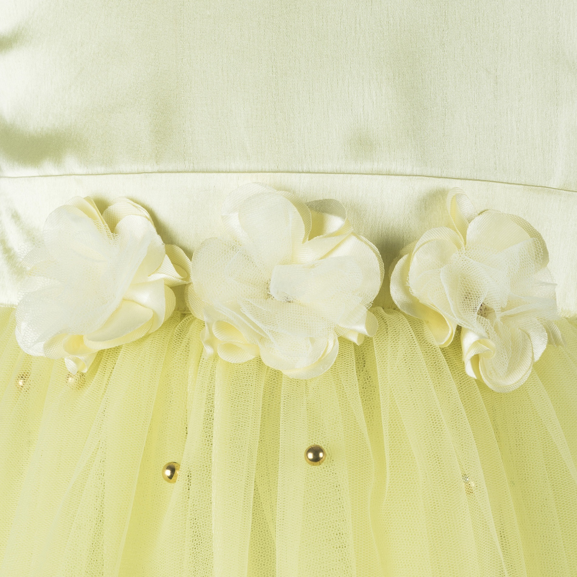 Pearl Embellished Yellow Dress.