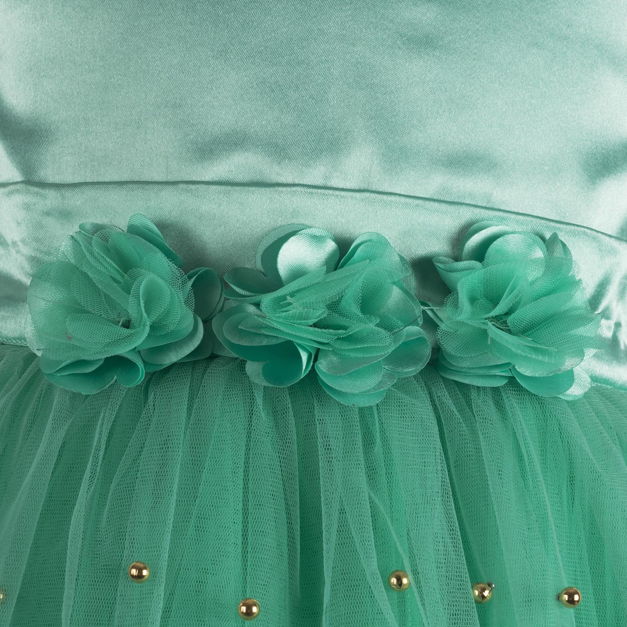 Embellished Sea Green Dress