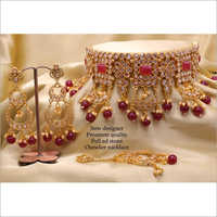 Designer Stone Choker Necklace Set