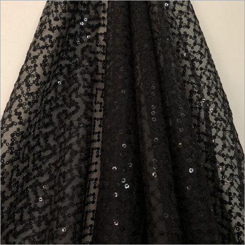 Embroidered Tissue Net Fabric