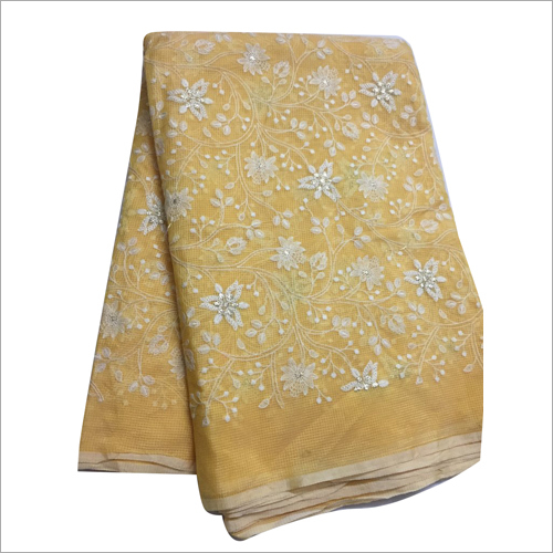 Embroidered Kota Fabric
