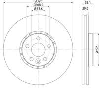 Volvo Front Brake Disc