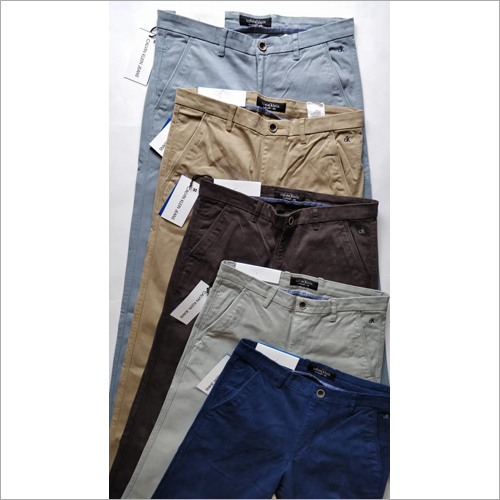 Branded Mens Plain Trousers