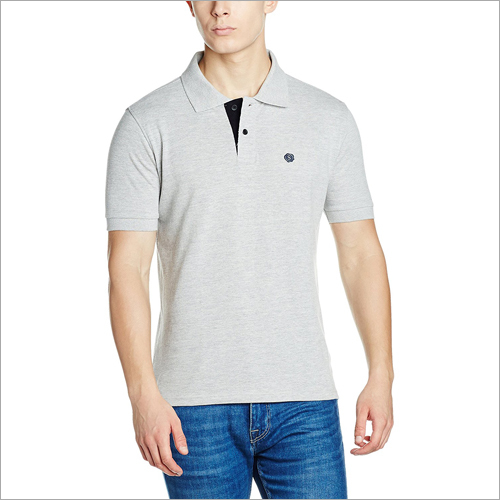 Branded Mens Polo Neck Plain T-Shirt
