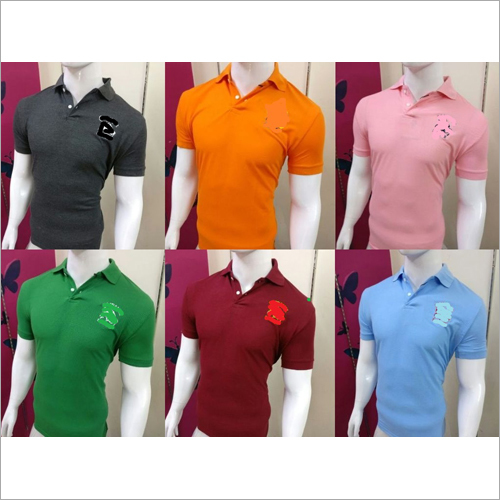 Mens Collar Neck Branded T-Shirt