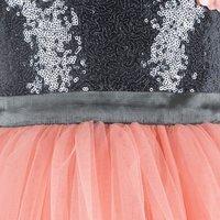 Sequins Embellished Orange  Frock.
