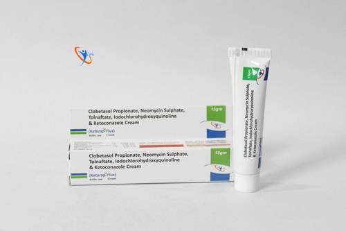 Clobetasol Propionate 0.005%w/w+ Neomycin Sulphate 0.10%w/w+Tolnaftate 1.0%w/w+Lodochlorhydroxyquinoline 1.0%w/w+Ketoconazole 2.0%w/w