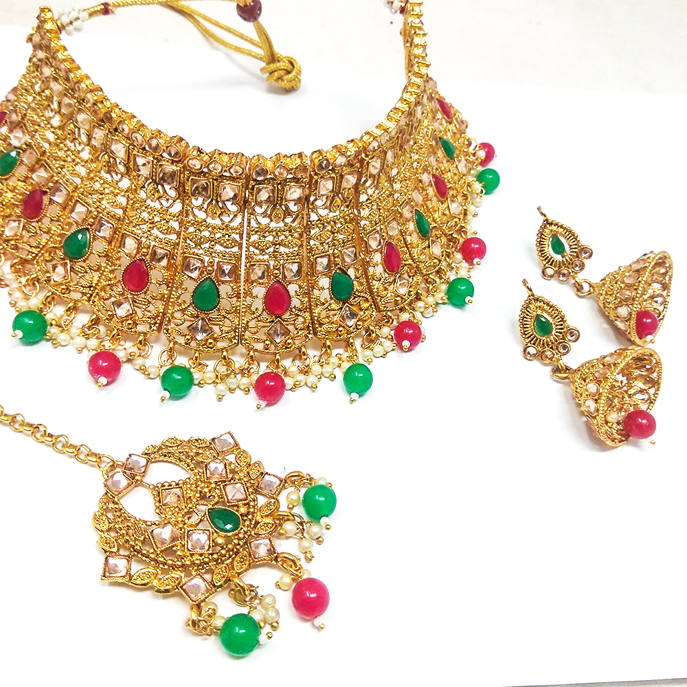 Immitation Jewellery Kundan Choker Necklace Set