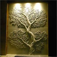 Sandstone Olive Tree Wall Carving