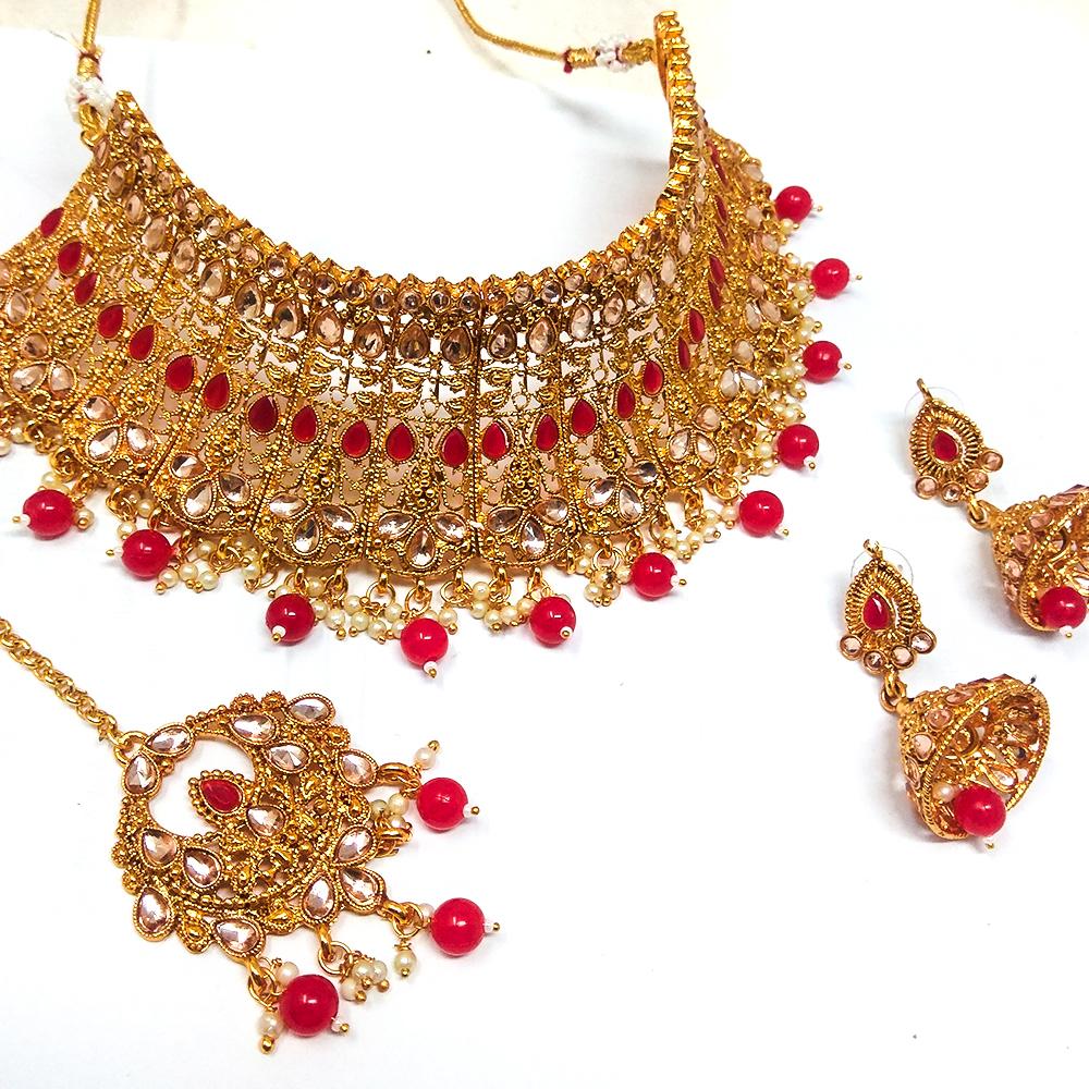 Artificial Jewellery Kundan Choker Necklace Set