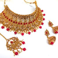 Artificial Jewellery Kundan Choker Necklace Set