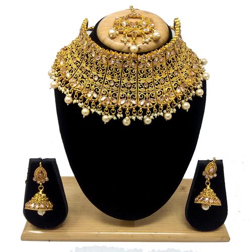 Immitation Jewellery kundan choker Necklace Set