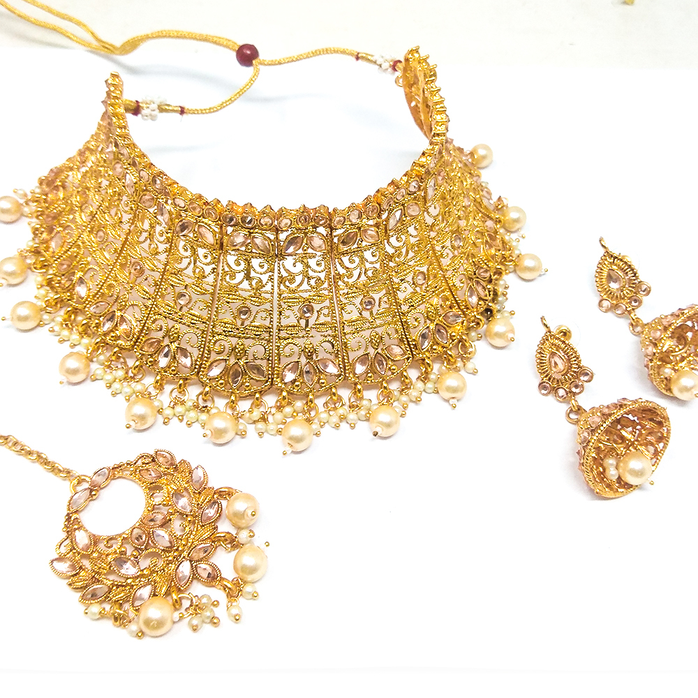 Imitation Jewellery Kundan Choker Necklace Set