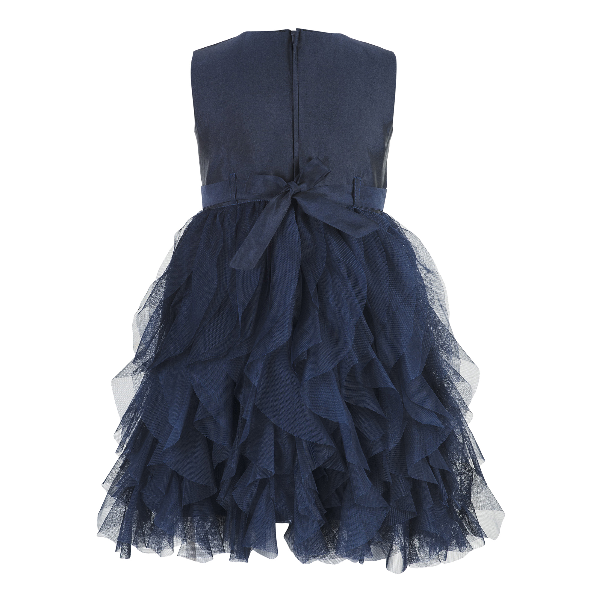 Kids Navy Blue waterfall dress