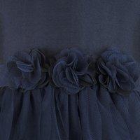 Kids Navy Blue waterfall dress