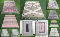 Cotton Handblock Embroidery Rug