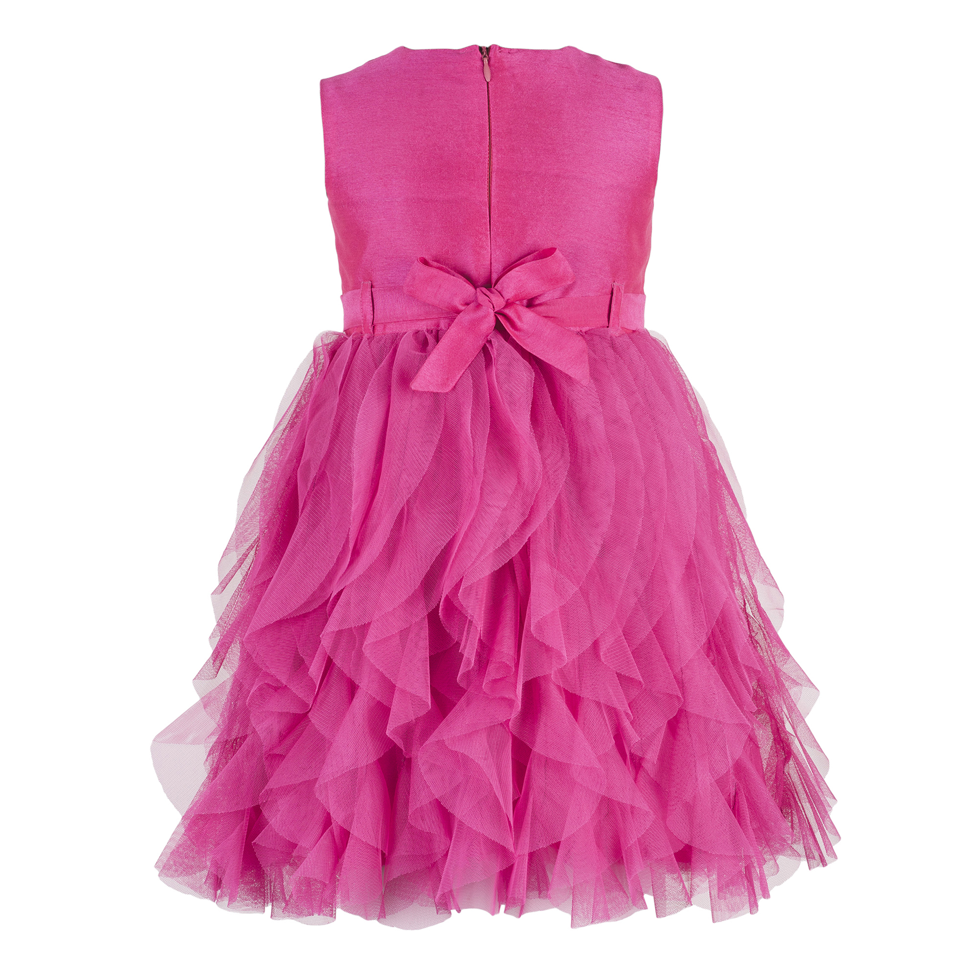 Kids Pink waterfall dress