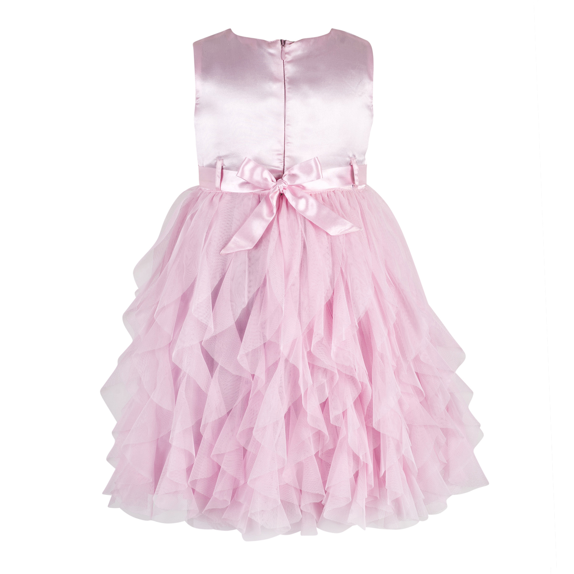 Kids Baby Pink waterfall dress