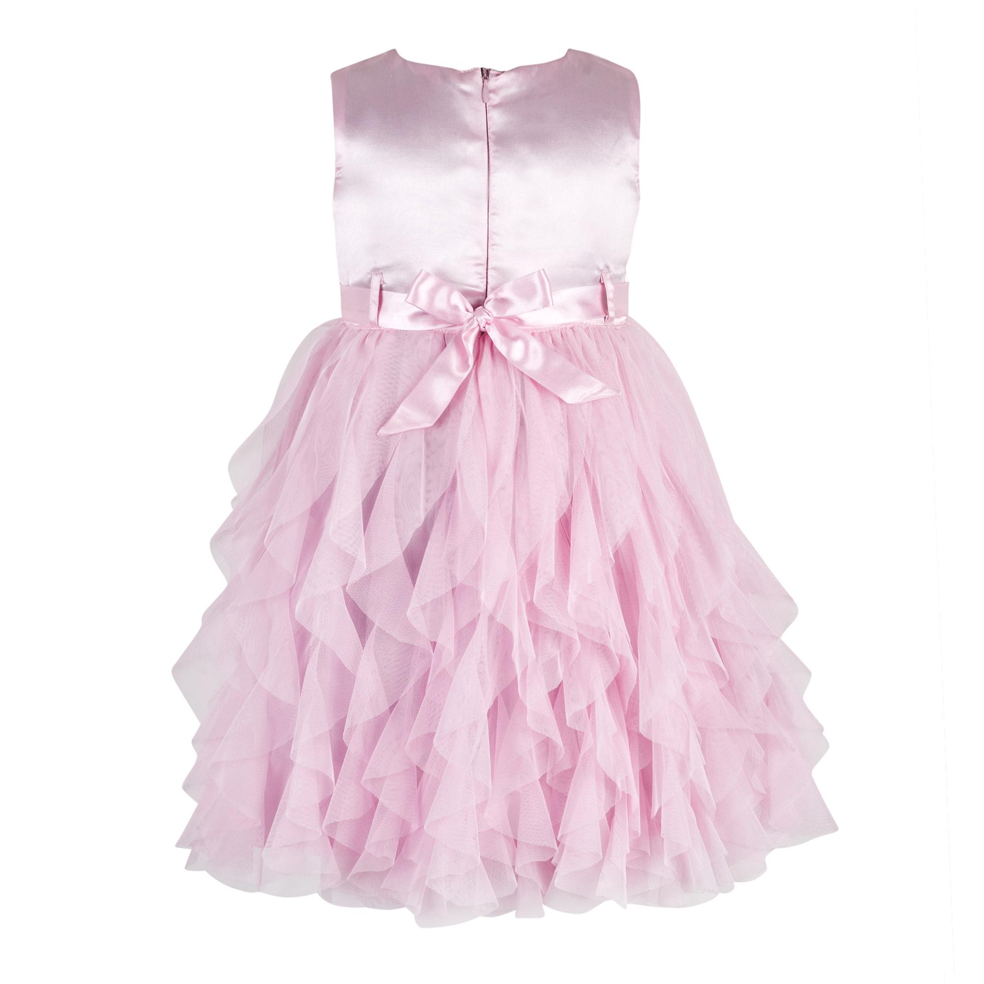 Kids Baby Pink waterfall dress