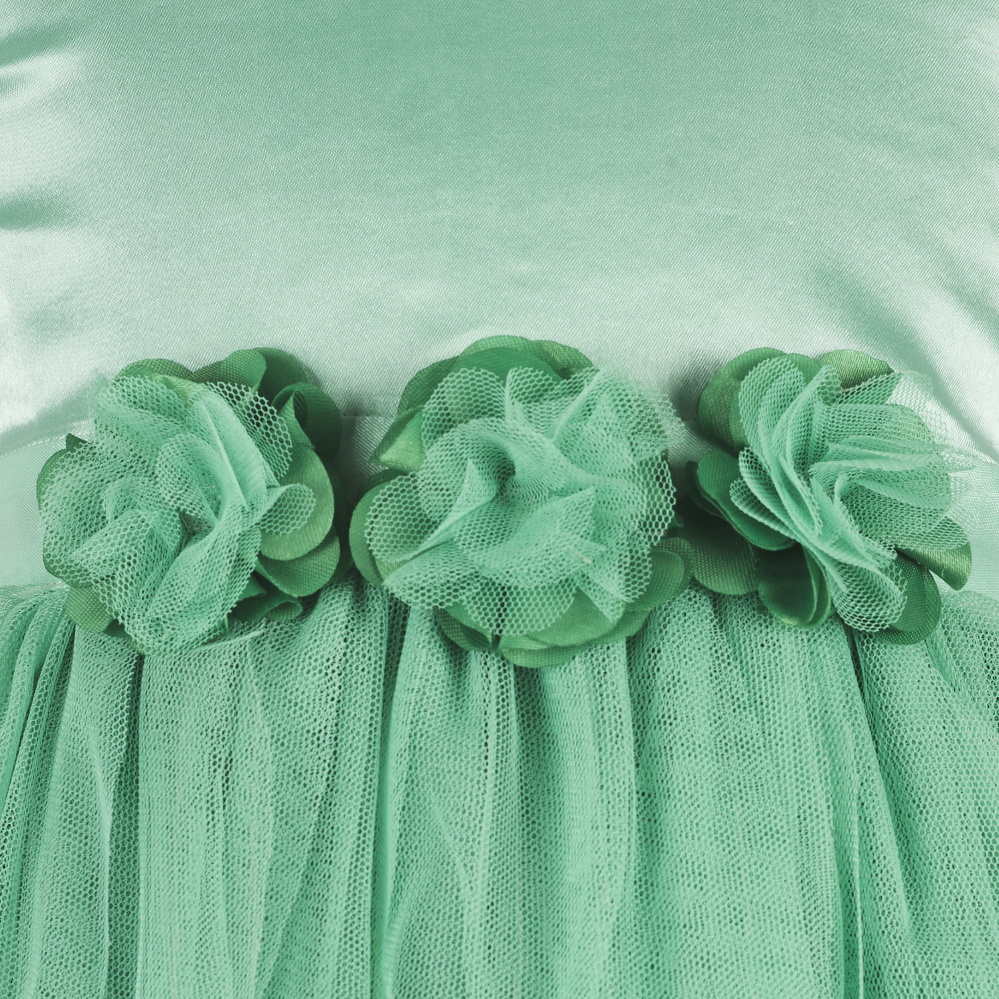 Kids Sea Green waterfall dress