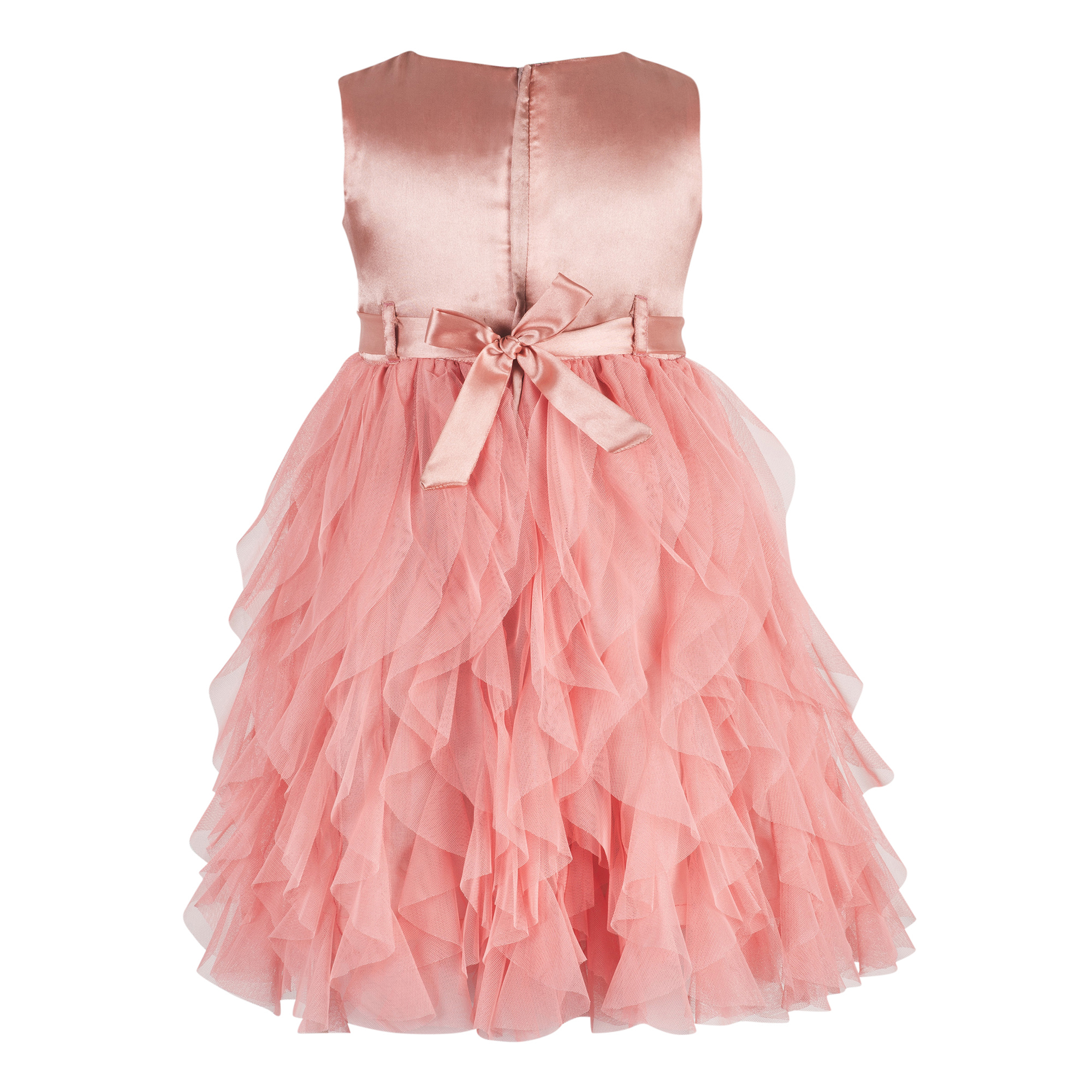 Kids Orange waterfall dress