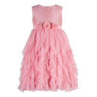Kids Peach waterfall dress