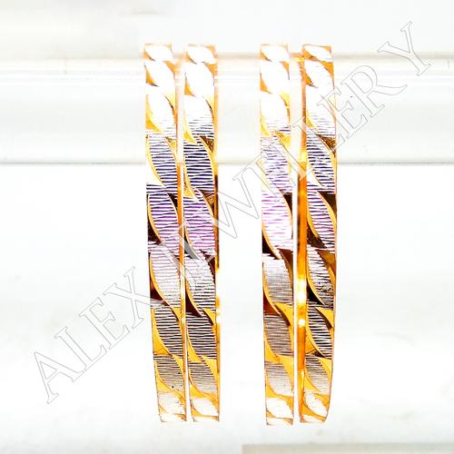 Immitation Jewellery Gold Plated Shagun Bangle