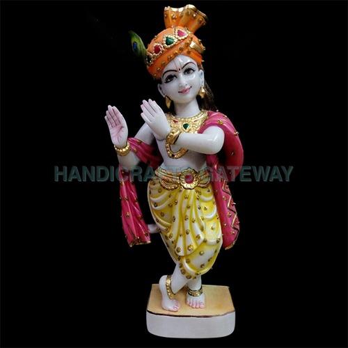 Home Decorative Pure Marble God Krishna Statue