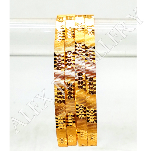 Gold plated shagun bangle for women