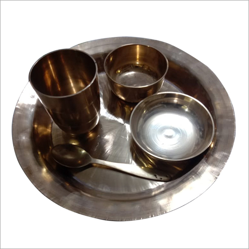 Brass Traditional Style Dinner Thali Set